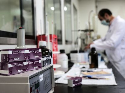 Cajas del fármaco remdesivir en un hospital egipcio, el pasado mes de junio.