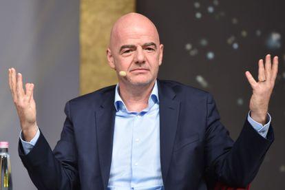 El presidente de la FIFA, Gianni Infantino, en Budapest este lunes.