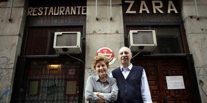 Inés y Jorge, los dueños del restaurante cubano Zara.