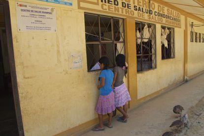 Centro de salud de Huampami, capital de la cuenca del Cenepa, la más afectada de la región awajún por el VIH-sida.