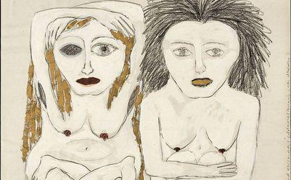 Karla Woisnitza, 'Dibujo al Mito de Medea', 1985.