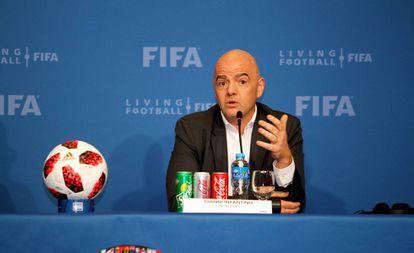 El suizo Gianni Infantino, presidente de la FIFA.