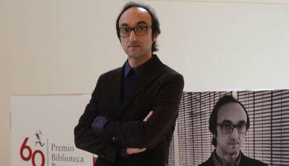 Agustín Fernández Mallo, en la entrega del premio Biblioteca Breve el pasado febrero.