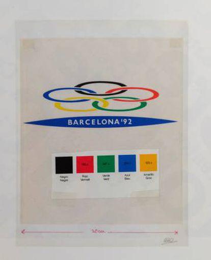 Logotipo para la candidatura de Barcelona a los Juegos Olímpicos de 1992.