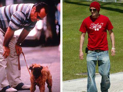 A la izquierda, Jack Nicholson en una escena de <i>Mejor imposible.</i> A la derecha, David Beckham.