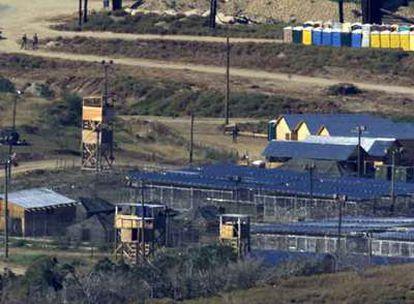 Vista aérea de la base estadounidense de Guantánamo.