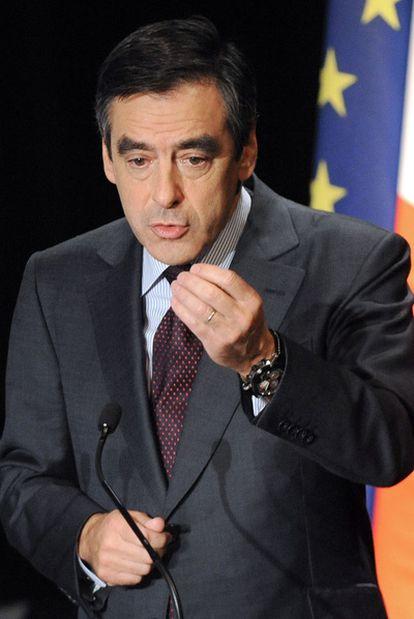 François Fillon, en una reciente intervención pública