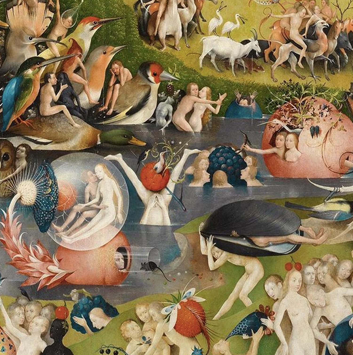 Un detalle del cuadro del Museo del Prado, el jardín de las Delicias