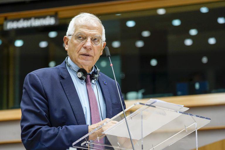 Josep Borrell, durante el debate de este miércoles en el Parlamento Europeo.
