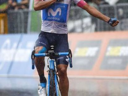 El ciclista ecuatoriano Richard Carapaz, ganador de la octava etapa del Giro de Italia.