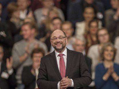 Martin Schulz, en el congreso del SPD en Berlín donde fue elegido nuevo líder del partido y candidato a canciller