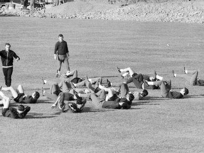 Entrenamiento en Lezama el 27 de enero de 1971.