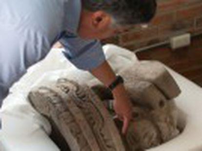 La figura hallada en el complejo arqueológico de Teotihuacán, en México, abre el debate sobre el sentido del edificio