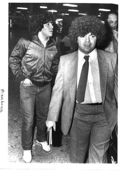 Jorge Cyterszpiler y Diego Maradona.