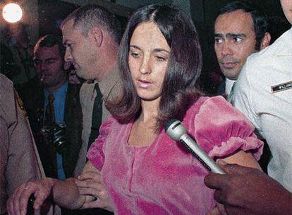 Susan Atkins, detenida en 1969.