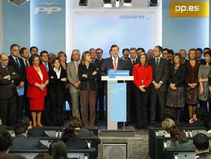 Comparecencia de Rajoy en 2009 tras las primeras detenciones del 'caso Gürtel'.