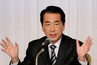El primer ministro, Naoto Kan, durante una reciente rueda de prensa.