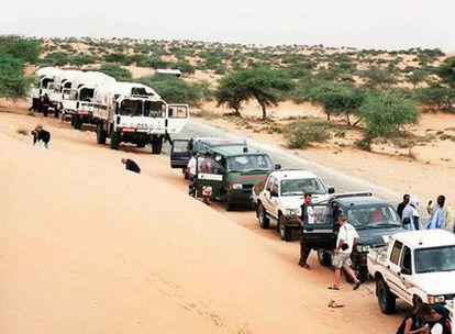 Caravana de Barcelona-Acciò Solidària, en 2007 en Mauritania.
