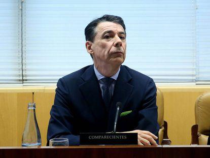 Ignacio González en la Comisión de Investigación sobre corrupción política en la Comunidad de Madrid.