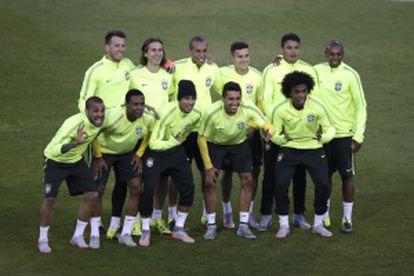 Los jugadores de Brasil se entrenaron en el estadio Monumental.