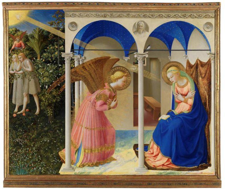 'La Anunciación'. Fra Angelico. |