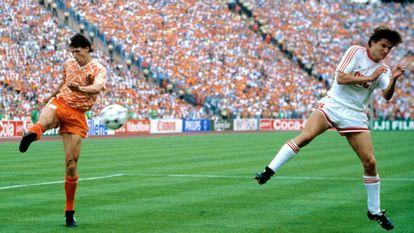 The Dutch Marco Van Basten volleyed in the final of Euro 88.