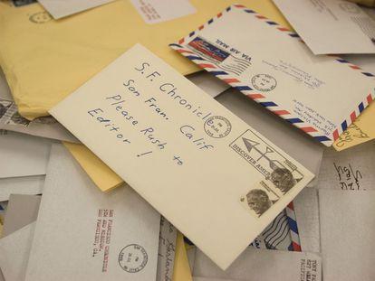 Imagen de la película 'Zodiac' (2007), con una carta anónima.