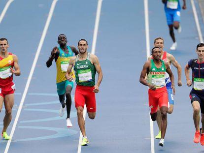 En la izquierda, Daniel Andújar, que quedó cuarto por centésimas de segundo.
