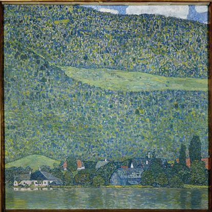 Imagen facilitada por el Museo de Arte Moderno de Salzburgo (Austria) de la obra 'Litzlberg am Attersee', de Gustav Klimt.
