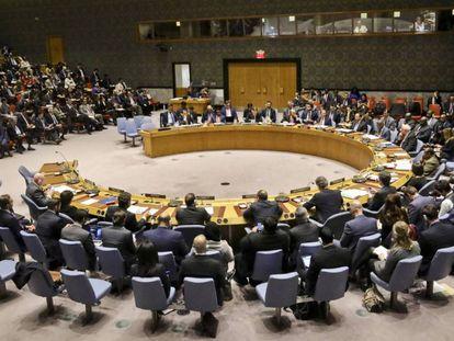 Sesión del Consejo de Seguridad de las Naciones Unidas. En vídeo, las intervenciones de los representantes de EE UU, Rusia y Venezuela.