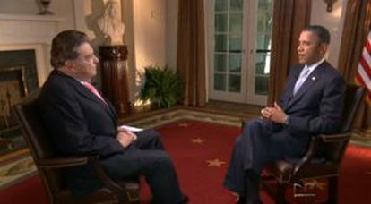 Captura de la entrevista entre Barack Obama y Don Francisco.