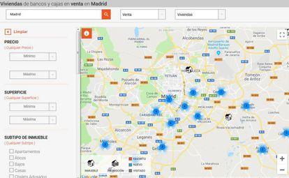 La información de webs como Inmopiso es usada para conseguir información sobre pisos de bancos vacíos.