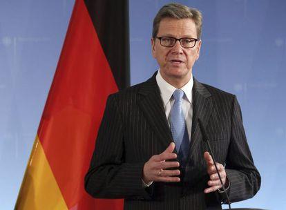 El ministro alemán de Exteriores, Guido Westerwelle.