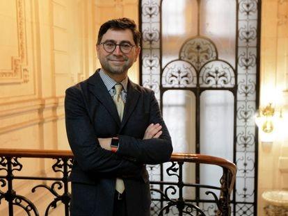 El científico Ardem Patapoutian, fotografiado el pasado 20 de septiembre, en Bilbao, antes de la entrevista.