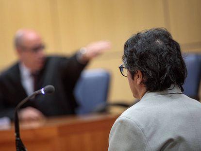 Luis Eduardo Ramírez, durante el juicio por abusar de una menor en el primer juicio en Valencia.