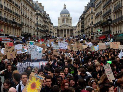 La marcha contra el cambio climático en París