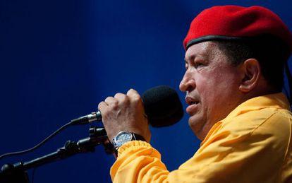 Chávez, en un mitin la semana pasada.