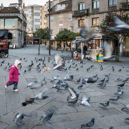 Zona peatonal de Pontevedra.