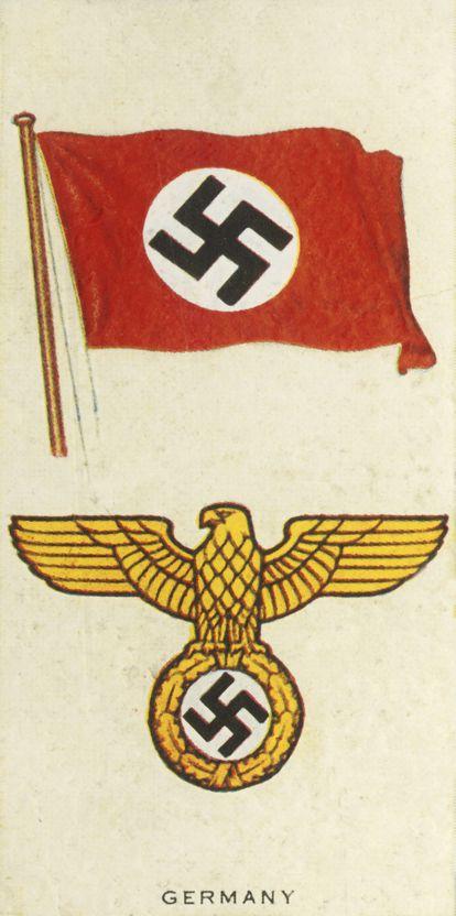 Ilustración de 'Un álbum de banderas y armas nacionales de Alemania' (1935).