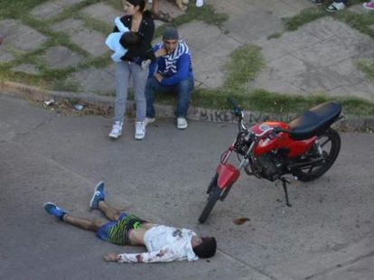 El joven David Moreira, muerto después de un linchamiento