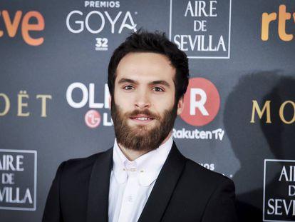 Ricardo Gómez, en los Goya 2018.