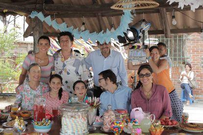 El elenco de la cinta ecuatoriana 'Instantánea'.