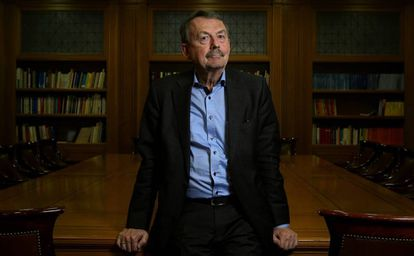 El sociólogo alemán Wolfgang Streeck, en la Fundacion Ramón Areces en Madrid.