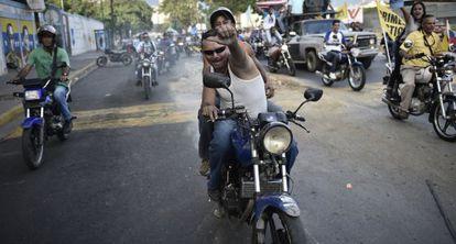 Opositores del chavismo hoy, en Caracas.