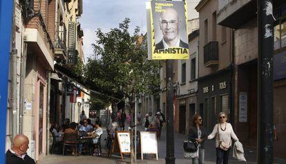 Una de las calles del centro de Sant Cugat del Vallès, el pasado sábado