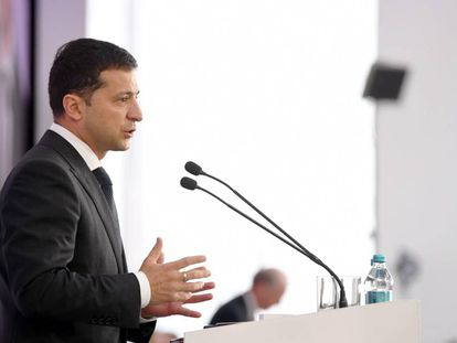 El presidente de Ucrania, Volodímir Zelenski, el 13 de septiembre de 2019.