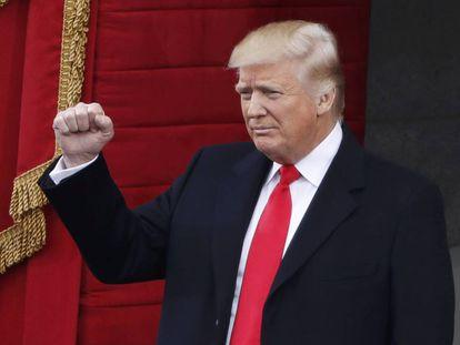 Trump, este viernes en la ceremonia de inauguración.
