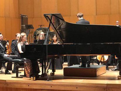 Marianna Prjevalskaya al piano en una imagen cedida.