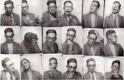 Fotomatón de Raymond Queneau (1903-1976), fundador del OuLiPo.