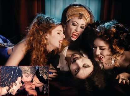 Florina Kendrich, Micaela Bercu, Monica Belluci and Keanu Reeves in a scene from 'Dracula, by Bram Stoker', by Francis Ford Coppola.